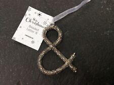 Glitter/Beaded Letter Christmas Decorations &