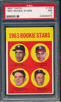 1963 Topps #169 Gaylord Perry Rookie Stars PSA 7