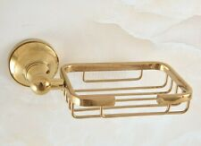Bathroom Accessory Wall Mounted Gold Color Brass Soap Dish/Soap Dish Basket
