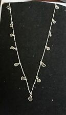 Diamond Chain Victorian Handmade Necklace 925 Sterling Silver Necklace Polki