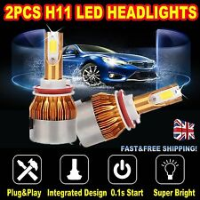 2× CREE 1200W H11 LED HEADLIGHT BULBS KIT H8 H9 6500K HIGH OR LOW BEAM US LATEST