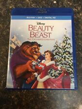 DISNEY BEAUTY AND THE BEAST ENCHANTED CHRISTMAS BLU-RAY + DVD NO DIGITAL HD