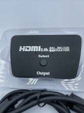 3 In 1 Out HDMI Switch 4K Ultra UHD 3 Ports Split