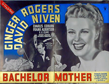 BACHELOR MOTHER 1939 Ginger Rogers David Niven TRADE ADVERT