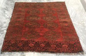 Article964 Vintage Handmade Afghan Rug Oushak Bukhara Bedroom Wool Kilim Rug