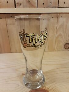 Rare Pilsner Beer Glass from Tikis Grill & Bar from Waikiki