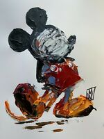ORIGINAL Abstract Mickey Mouse Disney Kids Contemporary Acrylic Art Painting