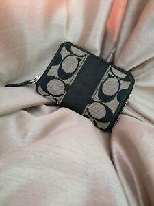 COACH Coin /Card holder Black Small Purse /Wallet