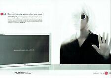 Publicité Advertising 129 2002 téléviseur LG  digital  flatron écran  plasma  2p