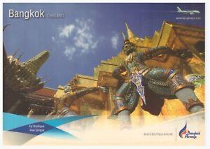 Airline Issued Postcard - Bangkok Airways (Thailand) Airbus A319