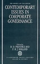 Contemporary Issues in Corporate Governance (1993, Hardcover)