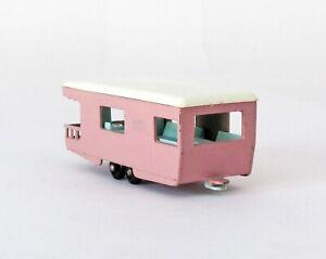 Vintage Lesney Matchbox #23 Trailer Caravan Pink Regular Wheels XLNT 1965