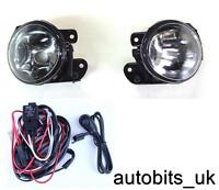 VW T5 TRANSPORTER CRAFTER POLO 9N FRONT BUMPER LIGHTS FOG LAMPS L & R + WIRING