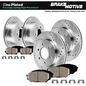 For 2006 - 2009 Chevy Trailblazer SS Front Rear Drill Brake Rotors Ceramic Pads