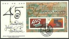 UNO-Wien/ 45 Jahre UNO MiNr Block 25 FDC