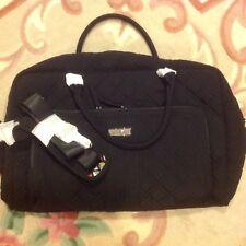 NWT Vera Bradley Weekender Travel Bag in CLASSIC BLACK 12435 081 BC