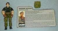 Lot 1985 GI Joe Warrant Officer Flint v1 Figure w/ File Card & Accessory *BROKEN