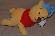 "14"" Baby Winnie The Pooh Bear Wearing A Blue Night Cap Plush Dolls Toys Mattel"