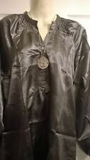 ladies La Redoute silver grey long maternity top & necklace Size 14 16 18 20