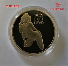 Lucky Heads or Tails Challenge Coin  (Navy USAF Army USMC Special Forces SEAL)