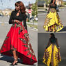 New African Women Printed Summer Boho Long Dress Beach Evening Party Maxi Skirt