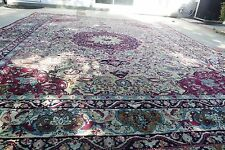 Antique Rare Design Kermanshah Persian Worn Rug 10' x 12'