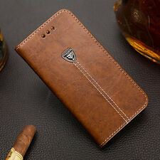 Luxury Retro Flip Book Stand Wallet PU Leather Case Cover For HTC Moble Phones