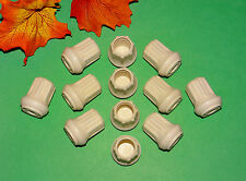 "(12) NEW 5/8"" WHITE RUBBER CANE TIPS FOR WALKERS, CRUTCHES, WALKING STICKS, ETC."