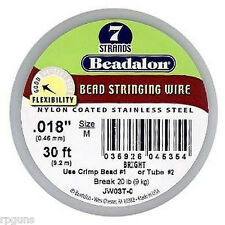 018 BEADALON BEAD WIRE BRIGHT 7 STRAND .018 IN./ 30 FT Stainless Steel Strong