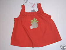 NWT Gymboree Beach Shack Pineapple Ruffle Tank Top 3-6 Months