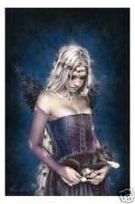Victoria Frances Poster Angel of Death 61x91cm * Gothic Girl Holding Cat
