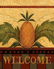Pineapple Welcome Sign Garden Plaque Art Tile Ceramic Wall Hanging Decor New