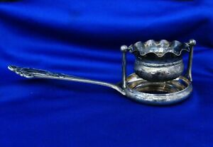 old , Tea Infuser w/ Stand , Handle , Tray  Portuguese 833 Silver Porto