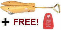 STAR Professional Adjustable Wooden Shoe Stretcher with FREE LIQUID