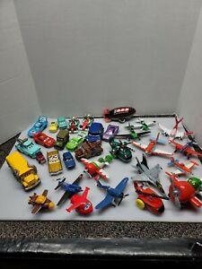 Disney Pixar Cars Planes Movie Lot Metal Diecast And Plastic Vehicles 31 Pieces