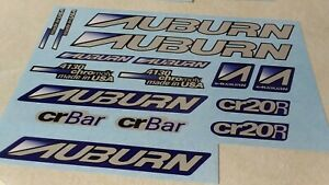 Auburn decals mid school BMX Vintage Bicycle Parts Dg Gt Hutch