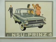 1971 NSU Prinz 4 Catalog Brochure With Specifications L7318