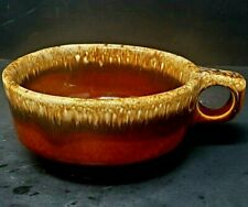 Vtg. Hull Pottery Brown Drip Glazed Soup Chili Mug Handle Bowl Oven Proof USA