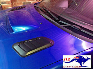 FUNCTIONAL-ABS HOOD/ Bonnet VENTS (L + R) --universal -NOT FAKE OR DECORATIVE!