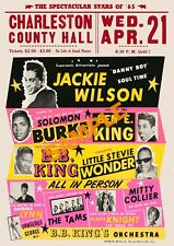 Fabulous 'Jackie Wilson + More' Repro vintage concert poster print Northern Soul
