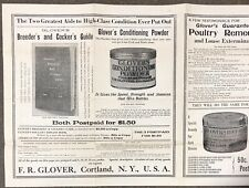 Cockfighting Supply Glover Cortland NY Gaffs Spur Saw Powders