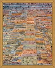 Hauptweg und Nebenwege Paul Klee Afrika Landschaft bunt Rhythmus LW H A1 0373