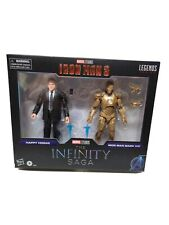 Marvel Legends The Infinity Saga Iron Man 3 HAPPY HOGAN & IRON MAN MARK XXI  NIB