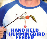 Hand Held Hummingbird Feeder Whimsy Wand MADE in  USA Songbird essentials WHWA