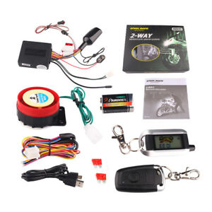 2 Ways Anti-theft Motorcycle Alarm System Immobilizer Security w/ Remote Control