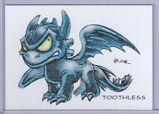 PRE-SALE ** TOOTHLESS ** HOW TO TRAIN YOUR DRAGON ** TRADING CARD ART by RAK **