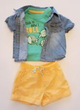 NEW Cat & Jack▪This is How I Roll▪Baby Boy 3 Pc Shirt/Shorts Set▪Size 3-6 Months