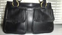 Lovely Mia Black Leather Tote, Shoulder Bag Medium
