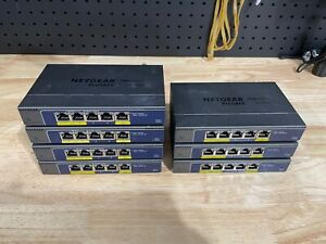 NETGEAR 5-Port Gigabit Ethernet PoE Switch (GS105PE) Lot of 7