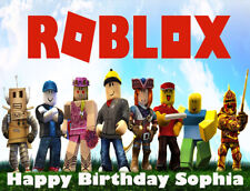 Roblox Premium Frosting Sheet Cake Topper FREE Personalization